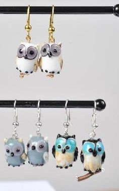 Owl Earrings too cute!