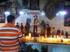 Venezuelan espiritismo altar  Cortes medico (healers court) Jose Gregorio Hernandez  Spiritism Maria Lionza Folk catholic