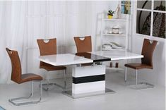 Great for Stunning Modern High Gloss Black White Extending Dining Table - 4 or 6 Chairs Dining Furniture Sets from top store White Extending Dining Table, Extendable Dining Table, Dining Table Chairs, Upholstered Dining Chairs, Dining Set, Dining Furniture Sets, Sofa Furniture, Sofas, Luxury Furniture Brands