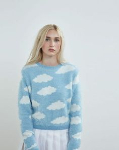 Lazy Oaf Fluffy Cloud Jumper - Everything - Categories - Womens - Tricot 02 Grunge Look, Grunge Style, 90s Grunge, Soft Grunge, Grunge Outfits, Lazy Oaf, Tokyo Street Fashion, Pastel Fashion, Cute Fashion