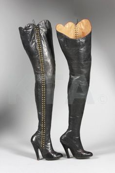 1930s fetish boots by Diana Slip, Kerry Taylor auctions
