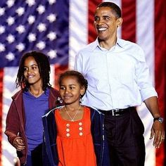 Barrack and the girls