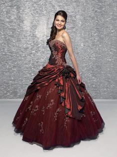 burgundy | Burgundy Quinceañera Ball Gown Sweet Sixteen Dresses