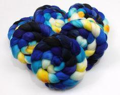 Superwash Merino Wool Roving - Handpainted Spinning Fiber