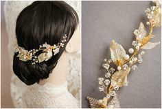 Bespoke for Anna_Golden bridal headpiece with leaves Hair Beads, Bridal Hair Accessories, Bridal Headpieces, Veils, Ethereal, Sash, Bespoke, Whimsical, Dream Wedding