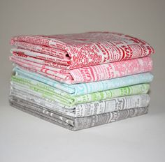 $18 for 6 fat quarters Lakehouse Assortment Seed Catalogue by Pam Kitty Fat Quarter bundle from Lady Belle Fabric