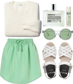 """""""minty"""" by rosiee22 ❤ liked on Polyvore"""