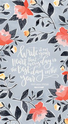 FREE wallpaper download for your mobile, tablet and desktop! Each background touts a @1canoe2 hand painted floral and brush lettered quote.
