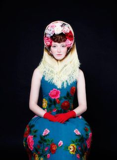 """Russian doll inspired look """"Matryoshka"""" by Susanne Bisovsky Fashion Art, Foto Fashion, Editorial Fashion, High Fashion, Fashion Design, Nail Fashion, Trendy Fashion, Style Russe, Editorial Photography"""