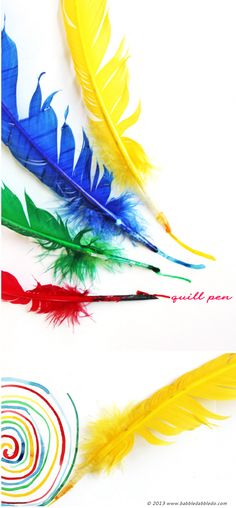 Learn how to make a quill pen with this super simple tutorial!