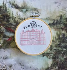 Tachete on Etsy Etsy Embroidery, Embroidery Patches, Hand Embroidery Patterns, Cross Stitch Embroidery, Cross Stitch Games, Grand Budapest Hotel, Thread Art, Crafty Craft, Lana