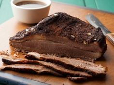 Texas Oven-Roasted Beef Brisket, from Paula's Home Cooking. Dry rub a brisket, then roast it in the oven. Easy...