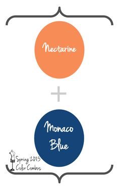 Nectarine and Monaco Blue
