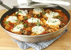 A hearty, delicious, one pan dinner is a gift from on high.  OK, maybe this skillet lasagna wasn't sent directly from the heavens, but on...