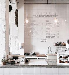 Interior crush• Restaurant Design, Cafe Menu Design, White Restaurant, Deco Restaurant, Coffee Shops, Coffee Shop Menu, Cozy Coffee Shop, Coffee Shop Design, Coffee Cafe Interior