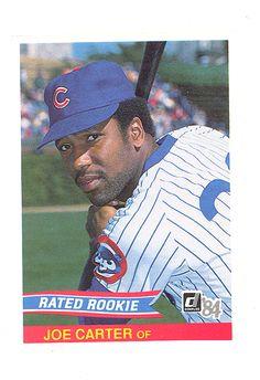 1984 Donruss 41 Joe Carter Chicago Cubs Toronto Blue Jays Rookie RC Mint | eBay