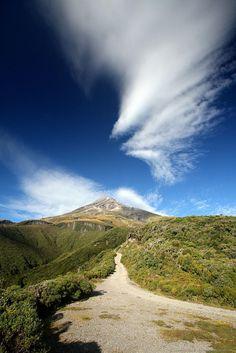 Mount Taranaki, in New Zealand's north island