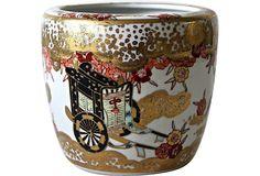 Vintage Japanese Gold Imari Cachepot from Vintage Queen