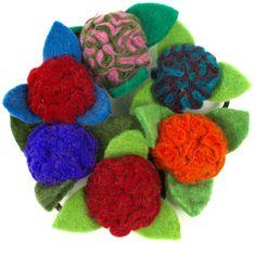 6x Filz Blüte Blüten Filzblüten Filzblumen Deko Blütendeko basteln nähen filzensparen25.com , sparen25.de ,sparen25.info