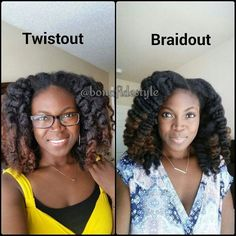 which is your go to? #braidout or #twistout? . . . both look great on you! : @bonafidestyle