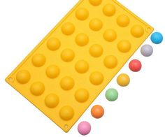 ALVA Semi circular yellow cake mold Silicone Chocolate Moulds 5pcsno.CM44 *** To view further, visit now : Bakeware Sets