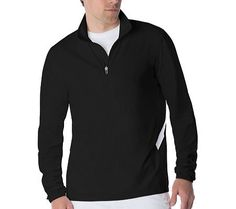 Fila Men's Fundamental Half Zip Tennis Jacket, Black, White, XL >>> More info could be found at the image url.