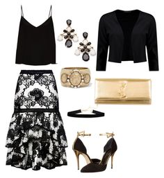 """""""Untitled #643"""" by mchlap on Polyvore featuring Alexis, Raey, Oscar de la Renta, Boohoo and Yves Saint Laurent"""