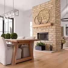 1950s fireplace ranch home brick - Google Search