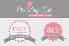One Day Sale Badge Bundle, Vol 1 ~ Web Elements on Creative Market