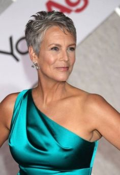 Jamie Lee Curtis - She can really pull off the gray hair thing. She is hot!