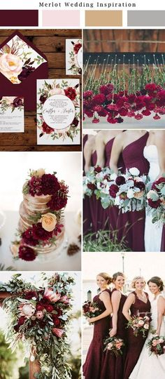 50 Best Of Wedding Color Combination Ideas 2017 (27) #BurgundyWeddingIdeas
