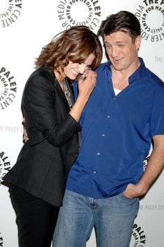 """#StanaKatic & #NathanFillion arrive at The Paley Center For Media Presents: An Evening With """"Castle"""" (2010)"""