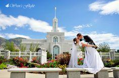 Wedding at Mount Timpanogos Temple