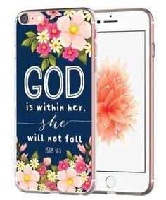 iPhone 7 Case Psalm 46:5.  Bible verse phone case.