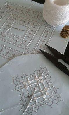 Randa handmade lace how it is made como se hace – Artofit Needle Tatting, Tatting Lace, Needle Lace, Bobbin Lace, Hardanger Embroidery, Lace Embroidery, Embroidery Stitches, Embroidery Patterns, Beaded Flowers