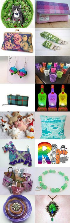 Colourful Creations for the Family-@IHeartScotlandTeam by Carole Russell on Etsy--Pinned with TreasuryPin.com