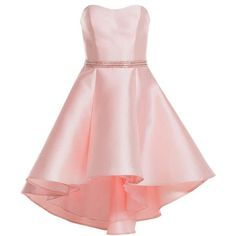 Alyce 3701 Bat Mitzvah Dress High-Low Strapless Sleeveless (2.002.440 IDR) ❤ liked on Polyvore featuring dresses, blush pink, formal dresses, high low formal dresses, pink homecoming dresses, pink sparkly dress and high low dresses