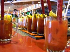 Brunch isn't brunch without a Bloody Mary in hand.