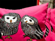 Ikea Gulort Owl Cushion Cover, Cotton Bland, Pink: Amazon.co.uk: Kitchen & Home