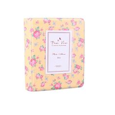 Fujifilm Instax Mini Photo Album DEAHUN Floral Photo Album For Fujifilm Instax Mini 7s 8 25 50s 70 90 Polaroid Z2300 Polaroid PIC300P Polaroid Snap Films  Name Cards Yellow *** Find out more about the great product at the image link.