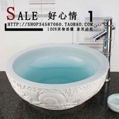 Jingdezhen ceramic hand painting pots wash basin art basin counter basin marine US $180.31