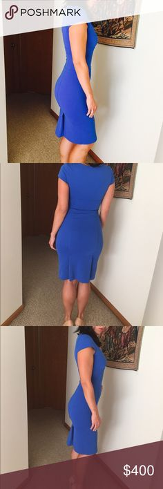 DVF DRESS Gorgeous blue form fitting dress. Great condition. NO TRADES OFFERS WELCOME Diane von Furstenberg Dresses Midi