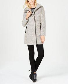 calvin klein funnel neck coat