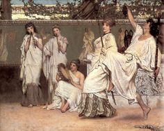 A private celebration (fragment). Alma Tadema canvas 90x72cm - Decorar con Arte
