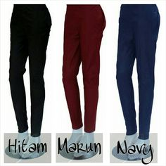 COTTON STRETCH PANTS *allsize @56rb *jumbo size @61rb *super jumbo @66rb