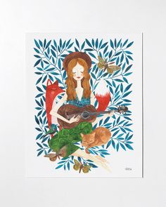 Play Me a Song - 8x10 art print by oanabefort on Etsy