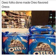 Yo dawg, we heard you like Oreos. So we made Oreo-flavored Oreos, so you can eat Oreos while you're already eating Oreos. Funny Shit, Funny Cute, Funny Posts, The Funny, Hilarious, Funny Stuff, Random Stuff, Super Funny, Funny Things