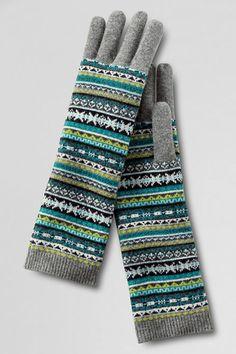 Women s FairIsle Elongated Glove from Lands  End - nice coverage Tartan  Plaid 0cfe4f83c49a