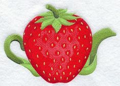 Strawberry Teapot design (A4666) from www.Emblibrary.com
