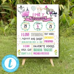 Editable Farm Animals Milestone poster, Farm Animals instant download invitation,You print birthday invitation, Party Animals DIY party Party Animals, Animal Party, I Love Swimming, Farm Birthday, Diy Party, Birthday Invitations, Daddy, My Love, Handmade Gifts
